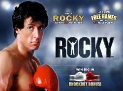 Imagem de abertura da slot virtual Rocky