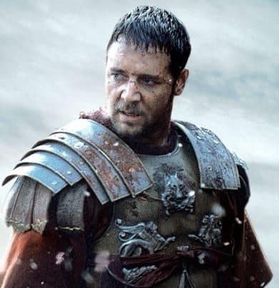 Russell Crowe como Gladiador