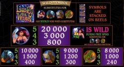 Tabela de Pagamento do caça-níqueis de cassino online Lucky Witch