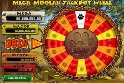A Roda do Grande Prêmio - o Jackpot da slot online Mega Moolah