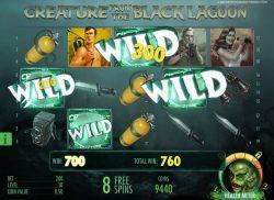 Recursos Especiais do caça-níqueis grátis a Creature from the Black Lagoon