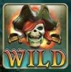 Símbolo Curinga do jogo caça-níqueis online grátis Ghost Pirates
