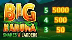 Curinga do caça-níqueis online grátis Big Kahuna: Snakes and Ladders