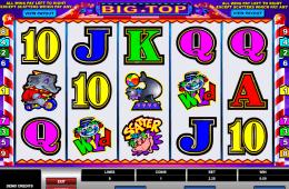 Big Top maquininha de cassino slot grátis