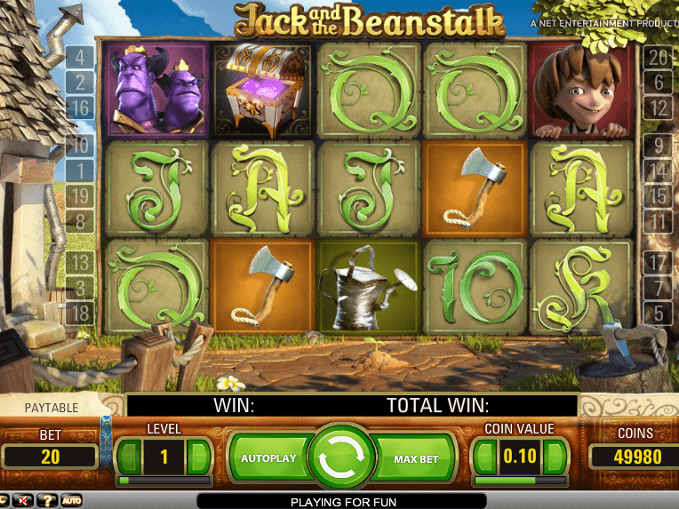 Jack and the beanstalk slots machines to download and play free pagani zonda slot car