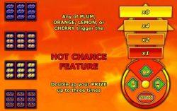 Caça-níqueis Hot chance – Tabela de Pagamentos 2