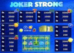 Tabela de Pagamento do caça-níqueis online grátis Joker Strong