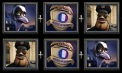 Símbolos das Rodadas Bônus do jogo caça-níqueis grátis A Night in Paris