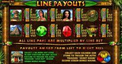 Pagamentos do caça-níqueis online Aztec Treasures