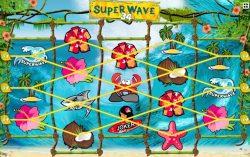 As 34 linhas de pagamento da slot Super Wave 34
