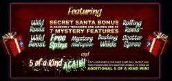 Um recurso do caça-níquel online grátis Santa Secret