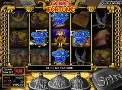 O bônus Click Me Crazy do caça-níqueis grátis online Genie´s Fortune de entretenimento.