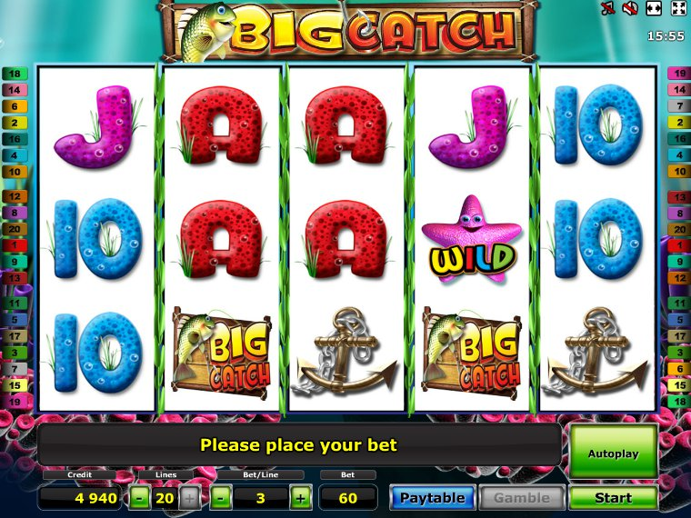 Big Catch slot - gratis online Novomatic slot