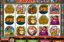 Caça-níqueis online grátis Karate Pig