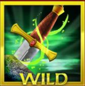 Símbolo curinga do  caça-níqueis grátis Excalibur