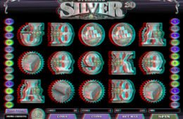 Caça-níqueis de cassino online Sterling Silver 3D