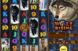 Caça-níqueis online Wolf Rising para diversão
