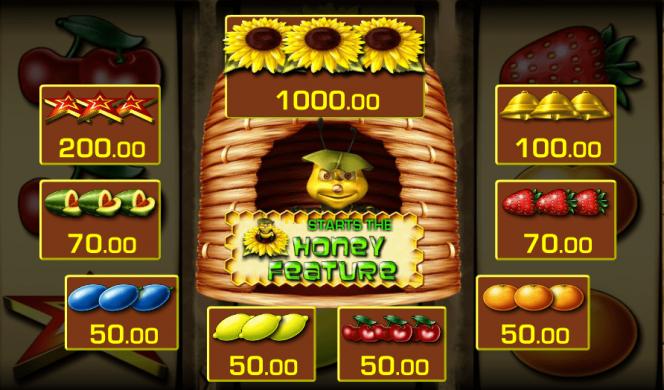 Caça-níqueis online Honey Bee – tabela de pagamento