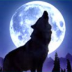 Símbolo curinga do jogo de cassino Wolf Moon