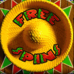 Símbolo dos giros grátis do Amigos Fiesta