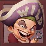 Símbolo curinga docaça-níqueis Hook's Heroes