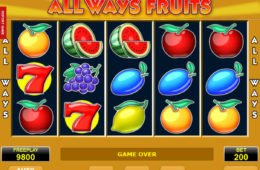 Jogo sem download All Ways Fruits sem depósito
