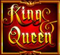 Símbolo curinga do caça-níqueis King & Queen