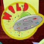 Símbolo curinga do caça-níqueis de cassino jogo Atomic Age