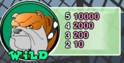 Tabela de pagamento do símbolo curinga - Caça-níqueis online Dog Pound Dollars