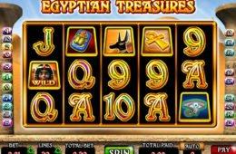Gire o jogo caça-níqueis de cassino Egyptian Treasures