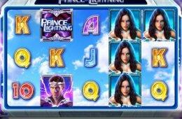 Uma foto do jogo caça-níqueis onlineThe Prince of Lightning