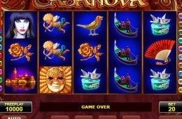 Uma foto do caça-níqueis online Casanova