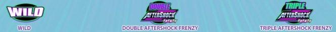 Símbolos especiais do jogo online AfterShock Frenzy