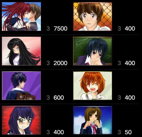 Tabela de pagamento do caça-níqueis online High School Manga