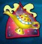Símbolo disperso do jogo grátis de cassino Aladdin´s Wishes