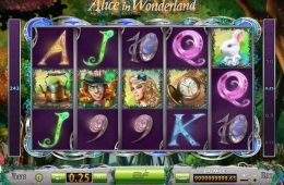 Caça-níqueis para diversão Alice in Wonderland