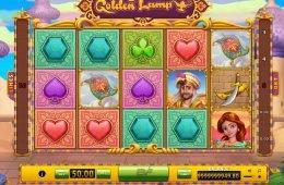 Gire os rodilhos do jogo de cassino grátis Golden Lamp