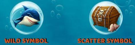 Simbolos bônus do jogo grátis de cassino Ocean Reef