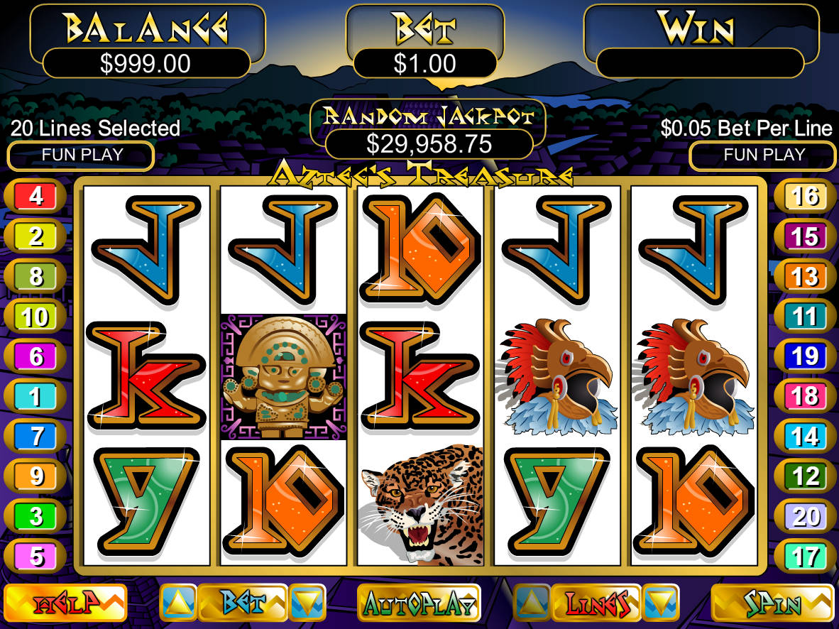 5 treasures slot machine free play