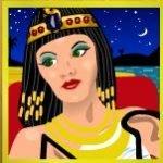 Símbolo curinga do jogo caça-níqueis Cleopatra´s Gold