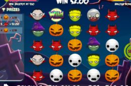 Casino máquina de caça-níqueis Halloween Emojis