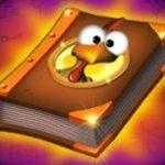 Jogo de caça-níqueis de cassino Book of Crazy Chicken - símbolo de curinga