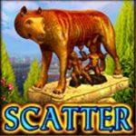 Símbolo scatter do jogo de caça-níqueis online Legendary Rome