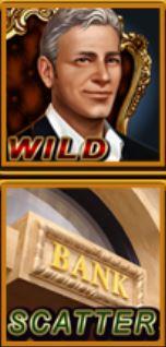 Símbolos especiais do jogo de slot online Rich World